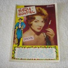 Catálogos de Música: CANCIONERO EDICIONES BISTAGNE - SARA MONTIEL (1960). Lote 59666559