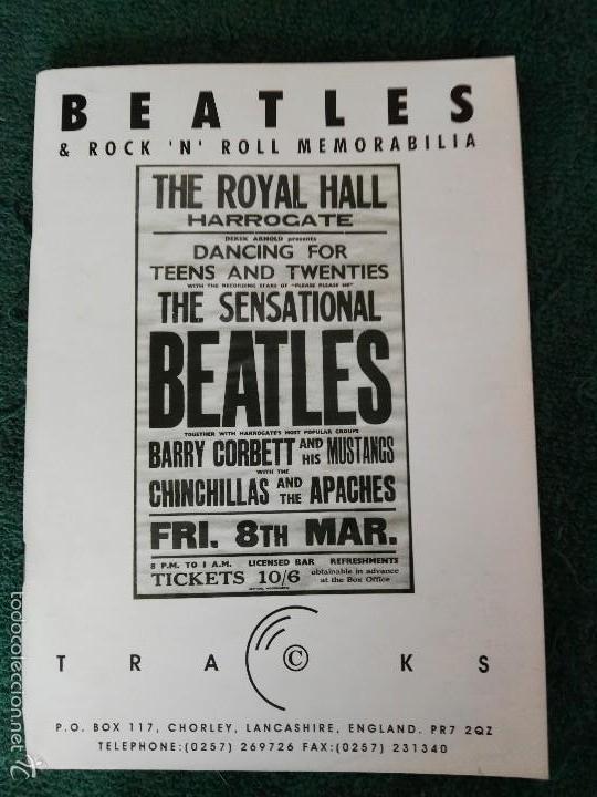 CATÁLOGO TRACKS BEATLES (Música - Catálogos de Música, Libros y Cancioneros)