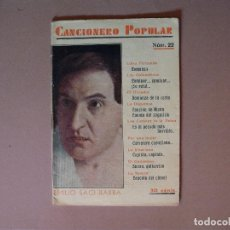 Catálogos de Música: CANCIONERO POPULAR, EMILIO SAGI-BARBA Nº 22 EDITORIAL ALAS, 1932. Lote 61372667