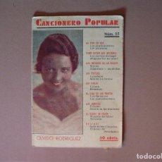 Catálogos de Música: CANCIONERO POPULAR, OLVIDO RODRIGUEZ Nº 27 EDITORIAL ALAS, 1932. Lote 61372895