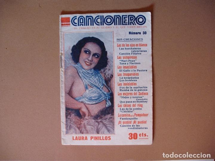 CANCIONERO , LAURA PINILLOS, Nº 30 EDITORIAL ALAS, 1934 (Música - Catálogos de Música, Libros y Cancioneros)