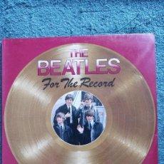 Catálogos de Música: LIBRO THE BEATLES FOR THE RÉCORD TAMAÑO LP. Lote 62124148