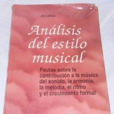 Catálogos de Música: ANÁLISIS DEL ESTILO MUSICAL, POR JAN LARUE, ED. LABOR, 1993. Lote 62170524