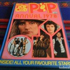 Catálogos de Música: ALUCINANTE DAILY MIRROR POP CLUB ANNUAL 1978 TAPA DURA A COLOR. TODAS LAS ESTRELLAS POP ROCK DEL AÑO. Lote 62615556