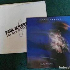 Catálogos de Música: PROGRAMA CONCIERTO PAUL MCCARTNEY BEATLES THE NEW WORLD TOUR MUY RARO . Lote 62729444