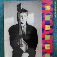 Catálogos de Música: PROGRAMA CONCIERTO PAUL MCCARTNEY BEATLES MADRID 1989. Lote 62730388