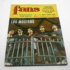 Catálogos de Música: REVISTA FANS - NÚM 100 - LOS MUSTANG - BRUGUERA - ORIGINAL 1967. Lote 63017504