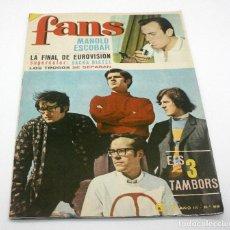 Catálogos de Música: REVISTA FANS - NÚM 99 - MANOLO ESCOBAR - EL TRES TAMBORS - BRUGUERA - ORIGINAL 1967. Lote 63017760