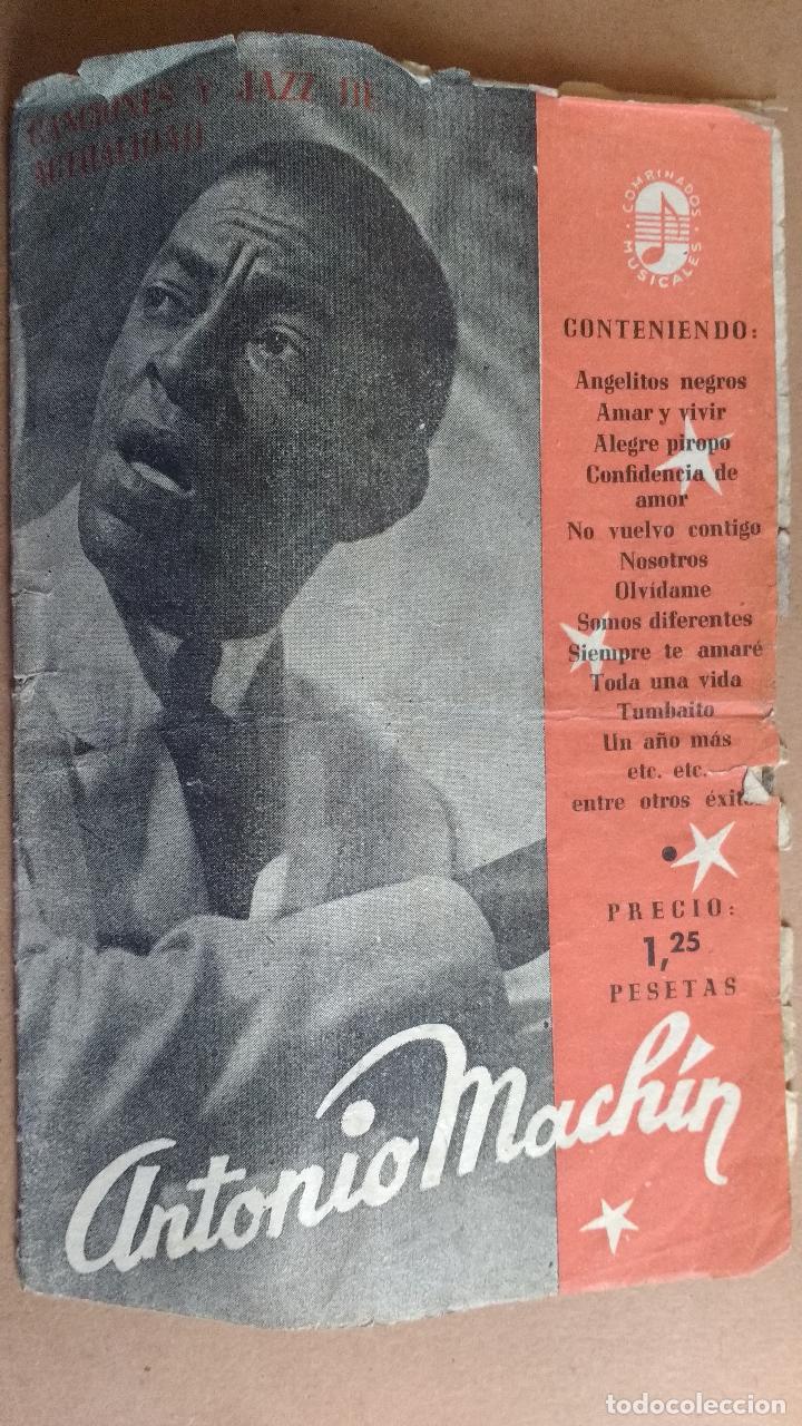 ANTIGUO Y RARO CANCIONERO DE ANTONIO MACHIN, CANCIONES Y JAZZ DE ACTUALIDAD. CONTIENE (Música - Catálogos de Música, Libros y Cancioneros)
