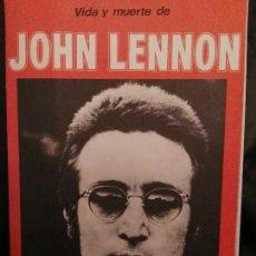 Catálogos de Música: VIDA Y MUERTE DE JOHN LENNON - BEATLES - RARA PUBLICACION CONMEMORATIVA - AÑO 80/81 - POSTER. Lote 64085255