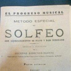 Catálogos de Música: EL PROGRESO MUSICAL- 1942. Lote 64393627