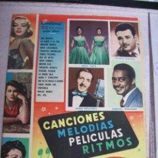 Catálogos de Música: CANCIONES,MELODIAS,PELICULAS,RITMOS. MARILYM MONROE, SILVANA MANGANO,AVA GARDNER. AÑOS 50. Lote 67651909
