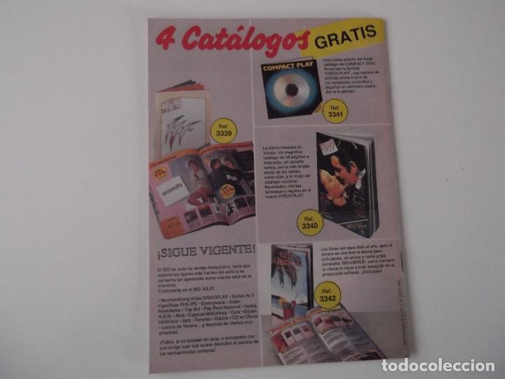 Catálogos de Música: BOLETIN INFORMATIVO DISCOPLAY BID Nº 63 Agosto 1989 - Foto 2 - 68321609