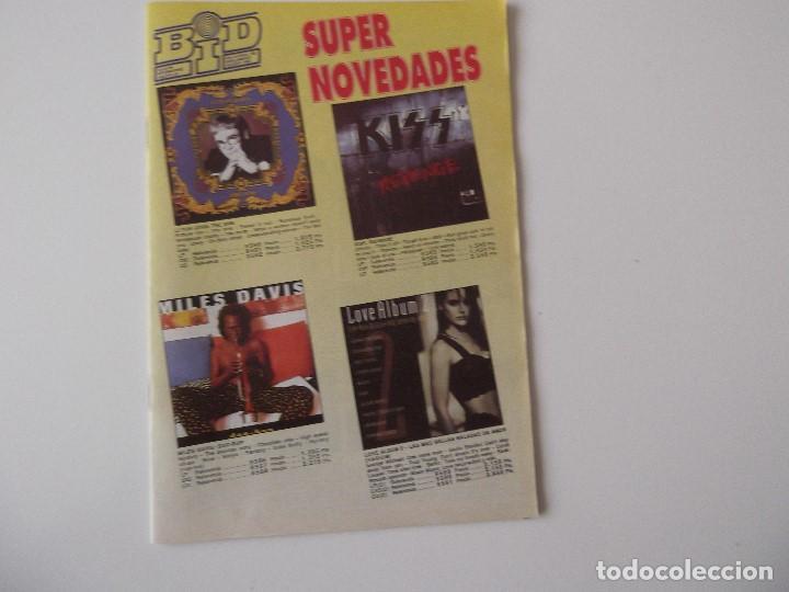 BOLETIN INFORMATIVO DISCOPLAY BID Nº 103 SUPLEMENTO AGOSTO 1992 (Música - Catálogos de Música, Libros y Cancioneros)