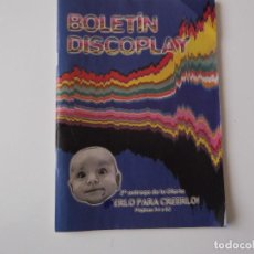 Catálogos de Música: BOLETIN INFORMATIVO DISCOPLAY BID Nº 210 AGOSTO 2001. Lote 68408137
