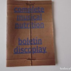 Catálogos de Música: BOLETIN INFORMATIVO DISCOPLAY BID Nº 213 NOVIEMBRE 2001. Lote 68408853