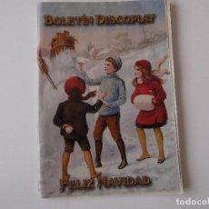 Catálogos de Música: BOLETIN INFORMATIVO DISCOPLAY BID Nº 214 DICIEMBRE 2001. Lote 68409133