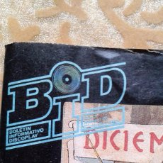 Catálogos de Música: BID BOLETIN INFORMATIVO DISCOPLAY Nº56 DICIEMBRE 1988. Lote 68437669