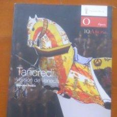Catálogos de Música: TANCREDI, GIACHINO ROSSINI, TETARO REAL. Lote 68558173