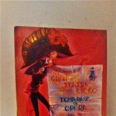 Catálogos de Música - Programa temporada de Ópera 1966 1967 Gran Teatro del Liceo. Opera Manon - 69295373