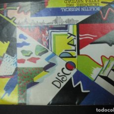 Catálogos de Música: DISCO PLAY. BOLETIN MUSICAL DICIEMBRE 1982. EXTRA NAVIDAD.. Lote 69366457