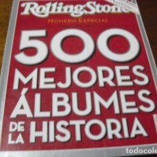 Catálogos de Música: LOTE DE UN LIBRO O REVISTA 500 MEJORES ALBUMES DE LA HISTORIA ROLLING STONE Nº ESPECAL ENTRA MIRALO. Lote 70095085