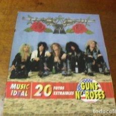 Catálogos de Música: REVISTA MUSIC IDEAL GUNS N'ROSES ENTRA MIRALO. Lote 70171037