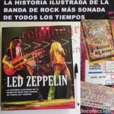 Catálogos de Música: LED ZEPPELIN - LIBRO HISTORIA ILUSTRADA - DE GRUPO ROCK BRITÁNICO - JON BREAM - FOTOS DATOS - MÚSICA. Lote 73300807