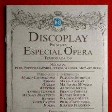 Catálogos de Música: BID - BOLETIN INFORMATIVO DISCOPLAY - ESPECIAL OPERA - MARZO 2004 - CATALOGO MUSICA CLASICA. Lote 73492127
