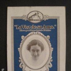 Catálogos de Música: CATALOGO DISCOS - LA VOZ DE SU AMO - JULIO 1929 - VER FOTOS - (V-8454). Lote 74049239