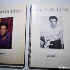 Catálogos de Música: SING WITH ELVIS - 3 LIBROS DE CANCIONES+2 CASSETTES C-90. Lote 74937243