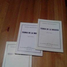 Catálogos de Música: TEORÍA DE LA MÚSICA. Lote 75079023