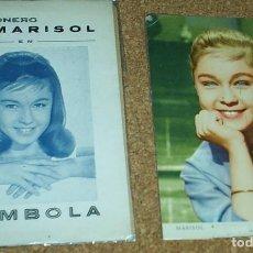Catálogos de Música: MARISOL TOMBOLA, CANCIONERO ORIGINAL 1962 LA POSTAL NO ES DE ESTE LOTE- LEER. Lote 75216019