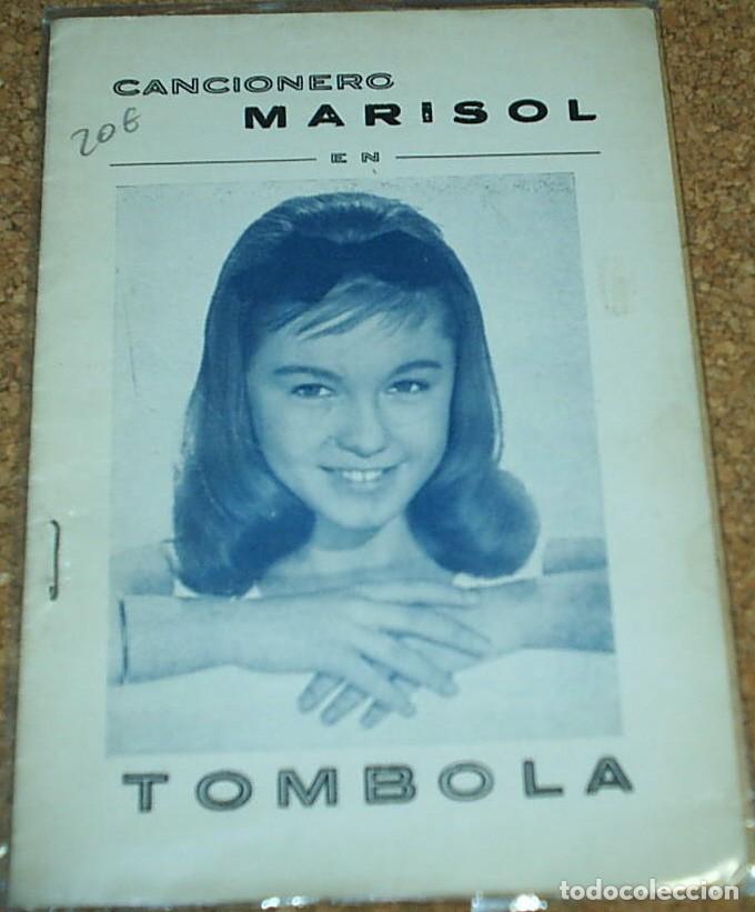 Catálogos de Música: MARISOL TOMBOLA, CANCIONERO ORIGINAL 1962 LA POSTAL NO ES DE ESTE LOTE- LEER - Foto 2 - 75216019