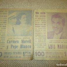 Catálogos de Música: CANCIONES POPULARES DE MODA, 2 CANCIONEROS COMPLETOS Y REGALO 3 MÁS. Lote 76870911