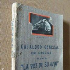 Catálogos de Música: CATALOGO GENERAL DE DISCOS. LA VOZ DE SU AMO. 1926. 382 PP.. Lote 77868641