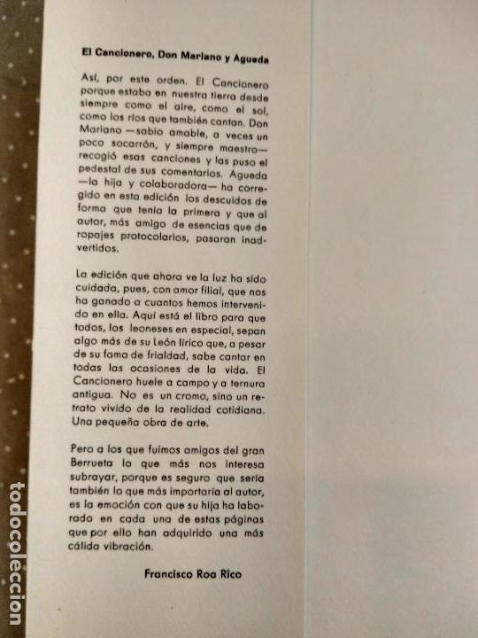 Catálogos de Música: DEL CANCIONERO LEONÉS - MARIANO D. BERRUETA - Recopilación de canciones leonesas - Foto 3 - 78135553