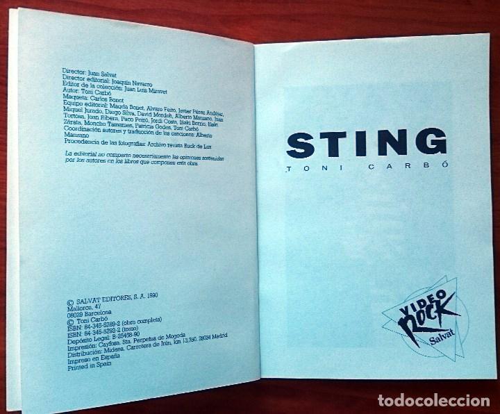 Catálogos de Música: Sting, Toni Carbó. Salvat Editores, 1990. Tapa Blanda, 13 x 18´5 cm. 96 páginas. - Foto 2 - 79871093