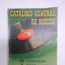 Catálogos de Música: CATALOGO GENERAL DE DISCOS JUNIO 1950. LA VOZ DE SU AMO, ODEON, REGAL. 252PP. 14X20 CMS. Lote 81078396