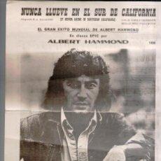 Catálogos de Música: PARTITURA NUNCA LLUEVE EN EL SUR DE CALIFORNIA, ALBERT HAMMON, 1973. Lote 82849372