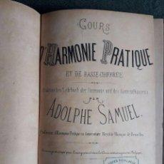 Catálogos de Música: COURS D'HARMONIE PRATIQUE ET DE BASSE CHIFFRÉE / ADOLPHE SAMUEL / ANDRÉS VIDAL HIJO EDITOR MADRID. Lote 83072540