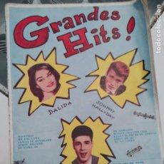 Catálogos de Música: CANCIONERO GRANDES HITS JOHNNY HALLYDAY, DALIDA, SANTY (ED BISTAGNE, 1962) . Lote 83746544