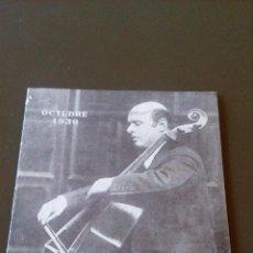 Catálogos de Música: LA VOZ DE SU AMO -SUPLEMENTO OCTUBRE 1930 - PABLO CASALS - BUEN ESTADO. Lote 83778476