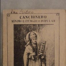 Catálogos de Música: ANTIGUO CANCIONERO MINIMO LITURGICO POPULAR.MADRID.1935. Lote 85469976