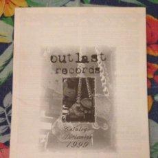 Catálogos de Música - OUTLAST RECORDS - CATÁLOGO DICIEMBRE 1999 - 85791984