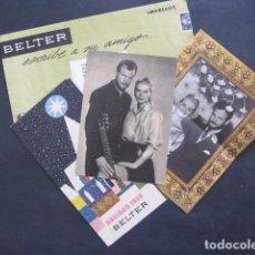 Catálogos de Música: CONJUNTO PUBLICIDAD BELTER - NINA & FREDERIK -VER FOTOS-(V-10.895). Lote 86046208