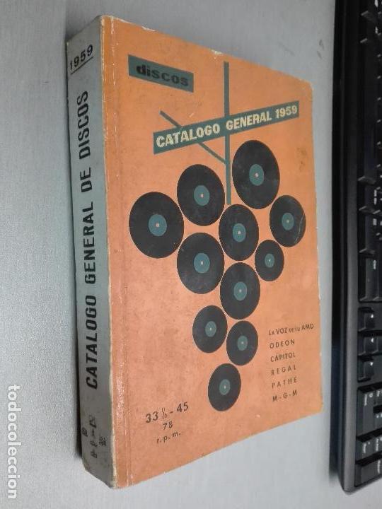 DISCOS, CATÁLOGO GENERAL 1959 / LA VOZ DE SU AMO, ODEON, CAPITOL, REGAL, PATHÉ,... (Música - Catálogos de Música, Libros y Cancioneros)