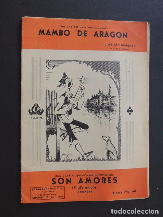 MAMBO DE ARAGON ( JOSE Mª MELENDO ) SON AMORES ( MERENGUE ) AÑO 1962 (Música - Catálogos de Música, Libros y Cancioneros)