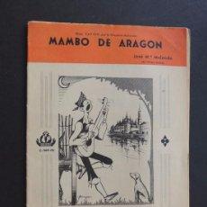 Catálogos de Música: MAMBO DE ARAGON ( JOSE Mª MELENDO ) SON AMORES ( MERENGUE ) AÑO 1962. Lote 87046624