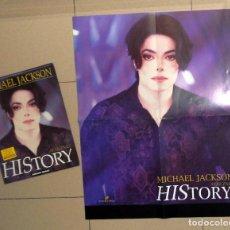 Catálogos de Música: LIBRO REVISTA MAKING HISTORY MICHAEL JACKSON - ADRIAN GRANT - POSTER ENTREVISTA EXCLUSIVA - FOTOS. Lote 194197972
